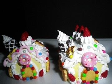 お菓子の家・トッピング~!.jpg